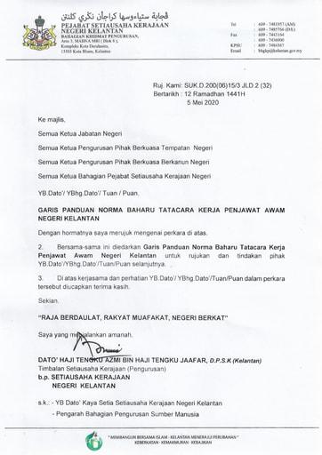 Surat Garis Panduan Norma Baharu