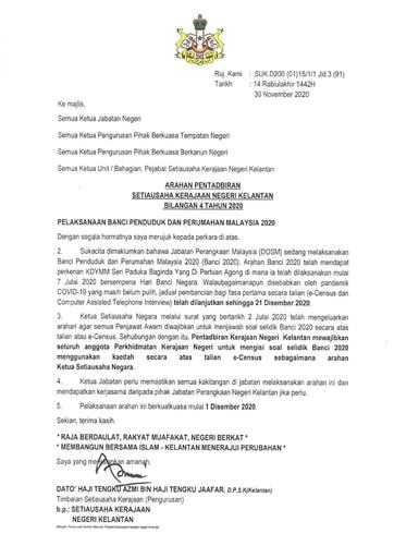 APN Bil4- Pelaksanaan Banci Penduduk Dan Perumahan Malaysia 2020