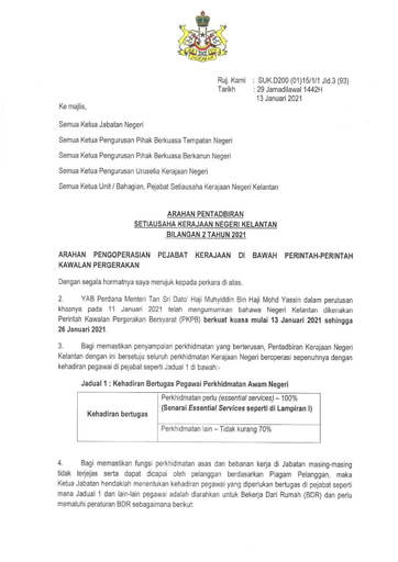 APN 02 - Pelaksanaan Perintah Kawalan Pergerakan Bersyarat (PKPB) Kerajaan Negeri Kelantan